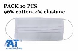 Pachet 10 MASCA de protectie cu pliuri din Bumbac 96% si elastan 4% 2 Straturi Unisex - MASKBBCTGH10