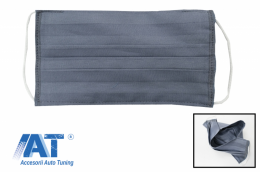 Pachet 5 masti de protectie gri cu pliuri din bumbac 100% + 5 Filtre PPS de 330 - MASKRALDG