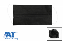 Pachet 5 masti de protectie negre cu pliuri din bumbac 100% + 5 Filtre PPS de 330 - MASKRALBK
