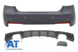 Pachet Bara Spate Difuzor cu Evacuare Simpla/Dubla compatibil cu BMW Seria 3 F30 F31 (2011-up) M-Performance Design - CORBBMF30MTNPSDO