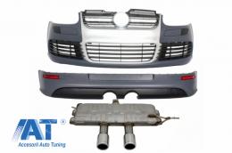 Pachet Complet compatibil cu VW Golf V 5 2005-2007 R32 Design Sistem de Evacuare - CORBVWFBVWESVW