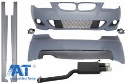 Pachet Complet fara PDC cu Evacuare Sport Dubla compatibil cu BMW Seria 5 E60 (2003-2010) M-Technik Design - COCBBME60MTWOPDCSO