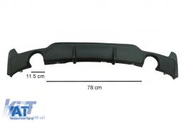 Pachet Conversie M Performance Design Difuzor De Aer Cu Prelungire Bara compatibil cu BMW F32 F33 F36 4 Series (2013-) - CORDBMF32MPDSO