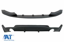 Pachet Conversie M Performance Design Difuzor De Aer Cu Prelungire Bara compatibil cu BMW Seria 4 F32 F33 F36 (2013-2019) - CORDBMF32MPDSO