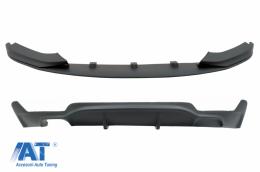 Pachet Conversie M Performance Design Difuzor De Aer Cu Prelungire Bara compatibil cu BMW F32 F33 F36 4 Series (2013-) - CORDBMF32MP
