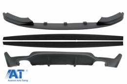 Pachet Conversie M Performance Design Difuzor De Aer Cu Prelungire Bara si Praguri compatibil cu BMW F32 F33 F36 4 Series (2013-) - COCBSBMF32MPDO