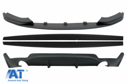 Pachet Conversie M Performance Design Difuzor De Aer Cu Prelungire Bara si Praguri compatibil cu BMW F32 F33 F36 4 Series (2013-) - COCBSBMF32MPDSO
