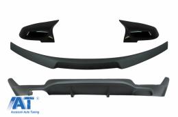 Pachet Conversie M Performance Design Difuzor De Aer Cu Eleron Portbagaj si Capace oglinzi compatibil cu BMW Seria 4 F32 (2013-up) Negru Mat - CORDBMF32MPCSBB