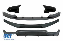 Pachet Conversie M Performance Design Difuzor De Aer Cu Eleron Portbagaj si Capace oglinzi compatibil cu BMW Seria 4 F32 (2013-2019) Prelungire Bara Fata Negru Mat - CORDBMF32MPCSBBMP