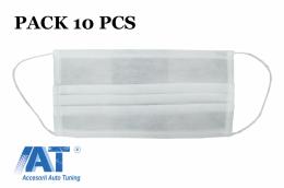Pachet de 10 bucati MASCA de protectie cu pliuri din POLIPROPILENA 100% 2 Straturi Unisex - MASKTNTM2TGH10