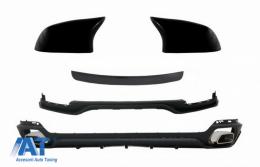 Pachet Exterior Aero Prelungire Bara Fata cu Difuzor si Capace Oglinzi  compatibil cu BMW X5 F15 (2014-2018) Aerodynamic Design - COCBBMF15AEROMC