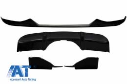 Pachet Exterior Aero Prelungire Bara Fata si Difuzor compatibil cu BMW X5 F15 (2014-2018) M Technik Sport Aerodynamic Design Piano Black - CBBMF15MPAERO