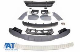 Pachet Exterior Aerodinamik si Bandou Ornament Protectie Portbagaj Aluminiu compatibil cu BMW X5 E70 LCI (2011-2013) - COFPBME70FBK