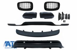 Pachet Exterior Aerodinamik si Grile Centrale compatibil cu BMW X5 E70 LCI (2011-2014) - COFGBME70DPBBK