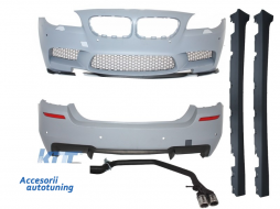 Pachet Exterior BMW F10 (2011-2014) M5 Design cu Sistem de Evacuare Complet - COCBBMF10M5CE