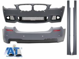 Pachet Exterior BMW F10 Seria 5 (2011-2014) M-Technik Design cu Ornament Evacuare M-Power  - COCBBMF10MTAS