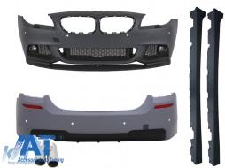 Pachet Exterior BMW F10 Seria 5 (2011-2014) M-Performance Design+Tobe Ornamente pentru sistemul de evacuare ACS Look Stanga - COCBBMF10MPTHMT