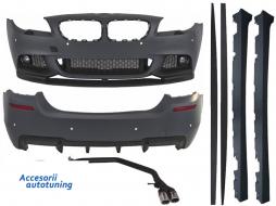 Pachet Exterior BMW F10 Seria 5 (2011-2014) M-Performance Design cu Sistem de Evacuare Complet - COCBBMF10MPDES