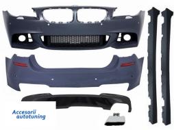 Pachet Exterior BMW F10 Seria 5 (2014-up) Facelift M-Technik 550i Design Brilliant Black Edition - COCBBMF10MTLCIWF550I
