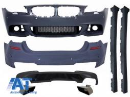 Pachet Exterior BMW F10 Seria 5 (2014-up) Facelift M-Technik 550i Design Brilliant Black Edition - COCBBMF10MTLCIWF550IB
