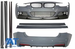 Pachet Exterior BMW F30 2011+ Grile Centrale Negru Lucios Extensii Praguri Laterale M-Performance Design - COCBBMF30MPPDCDG