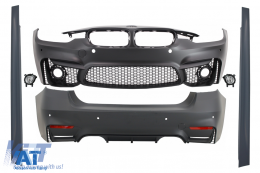 Pachet Exterior BMW F30 (2011-up) EVO II M3 Design cu Proiectoare - COCBBMF30EVOFL