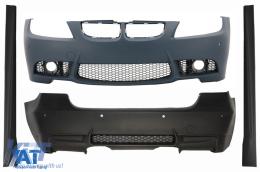 Pachet Exterior BMW Seria 3 E90 (04-08) (Non LCI) M3 Design fara Proiectoare cu Praguri Laterale si Bara Fata/Spate PDC - COCBBME90M3WFPDC
