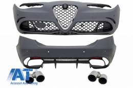 Pachet Exterior compatibil cu Alfa Romeo Giulia (952) Q4 (2016-Up) Quadrifoglio Racing Design - CBALFRG952