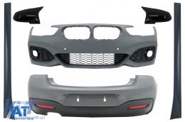 Pachet Exterior compatibil cu BMW 1 Series F20 LCI (2015-2018) cu Capace de oglinzi M-Technik Design
