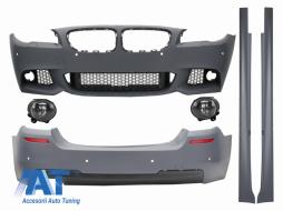 Pachet Exterior compatibil cu BMW F10 Seria 5 (2011-2014) cu Proiectoare Ceata Lumini de Ceata M-Technik Design