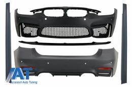 Pachet Exterior compatibil cu BMW F30 (2011-2019) EVO II M3 CS Style Fara Proiectoare - CBBMF30EVOWOF
