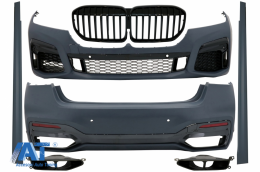 Pachet Exterior compatibil cu BMW G12 LCI Facelift Seria 7 (2019-Up) M-Technik Design - CBBMG12FMT