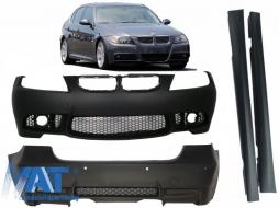Pachet Exterior compatibil cu BMW Seria 3 E90 (04-08) (Non LCI) M3 Design fara Proiectoare cu Praguri Laterale si Bara Fata/Spate - COCBBME90M3WFSS