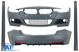 Pachet Exterior compatibil cu BMW Seria 3 F30 (2011-2019) M-Technik Design - CBBMF30MT