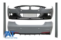 Pachet Exterior compatibil cu BMW Seria 3 F30 (2011-2014) & F30 LCI Facelift (2015-up) M-Performance Design - CBBMF30MPDOWOFL