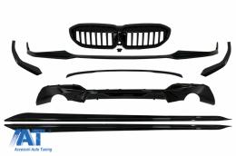 Pachet Exterior compatibil cu BMW Seria 3 G20 Sedan G21 Touring (2018-Up) M Design Negru Lucios - CBBMF20MP