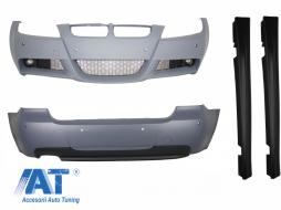 Pachet Exterior compatibil cu BMW Seria 3 Touring E91 LCI (2008-2011) M-Technik Design - CBBME91MTLCI