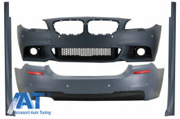 Pachet Exterior compatibil cu BMW Seria 5 F10 LCI (2014-2017) M-Technik Design - CBBMF10MTLCI