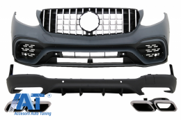 Pachet Exterior compatibil cu MERCEDES Benz GLC 63 X253 SUV (2015-up) AMG Design - CBMBGLCX253AMG