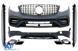 Pachet Exterior compatibil cu MERCEDES Benz GLC 63 X253 SUV (2015-up) AMG Design cu Praguri Laterale - COCBMBGLCX253AMGRR