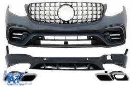 Pachet Exterior compatibil cu Mercedes GLC SUV X253 (2015-07.2019) GLC63 Design - CBMBGLCX253AMG