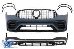 Pachet Exterior compatibil cu Mercedes GLC SUV X253 (2020-Up) GLC63 Design - CBMBGLCX253FAMG