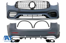 Pachet Exterior compatibil cu Mercedes GLC SUV X253 Facelift (2020-Up) GLC63 Design - CBMBGLCX253FAMGBT