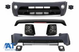 Pachet Exterior compatibil cu Rover Sport Facelift L320 (2009-2013) Autobiography Design cu Stopuri LED Negru