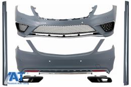 Pachet Exterior compatibil cu S-Class 13+ Editie Speciala Chrome cu Ornamente Evacuare Negre AMG S63 Design - COCBMBW222AMGS63CBB