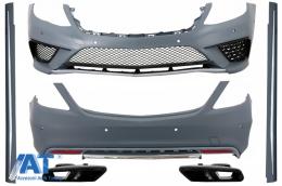 Pachet Exterior compatibil cu S-Class W222 (2013-06.2017) S63 Design cu Ornamente Toba de Evacuare - COCBMBW222AMGS65TYB