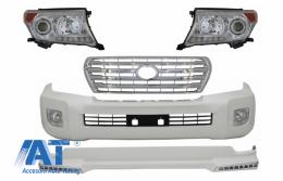 Pachet Exterior compatibil cu TOYOTA Land Cruiser FJ200 (2008-2011) Conversie la Modelul Facelift Alb Perlat - COCBTOLC200