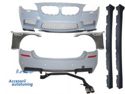 Pachet Exterior Complet BMW F10 (2011-2014) M5 Design cu Sistem de Evacuare  - COCBBMF10M5ES
