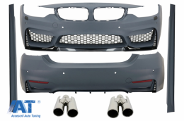 Pachet Exterior Complet BMW Seria 4 F32 F33 (2013-up) M4 Design Coupe Cabrio cu Ornamente Evacuare ACS-design - COCBBMF32M4DOTY