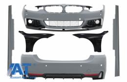 Pachet Exterior Complet compatibil cu BMW 4 Series F32 F33 F36 (2013-2016) Coupe Cabrio Fara Proiectoare - COCBBMF32MPTDOWOFLFF